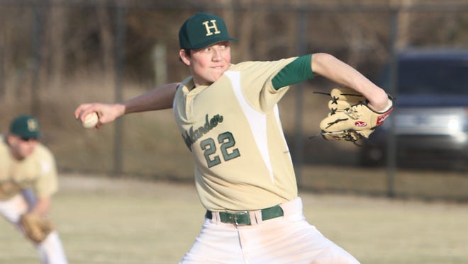 Luke Russo pitched a five-hitter in the second game to help Howell beat Livonia Stevenson and win the KLAA baseball title.