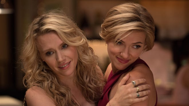 """Pippa (Kate McKinnon, left) and Jess (Scarlett Johansson) are in for a """"Rough Night."""""""