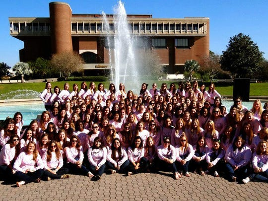The sisters of UCF's Chi Omega.