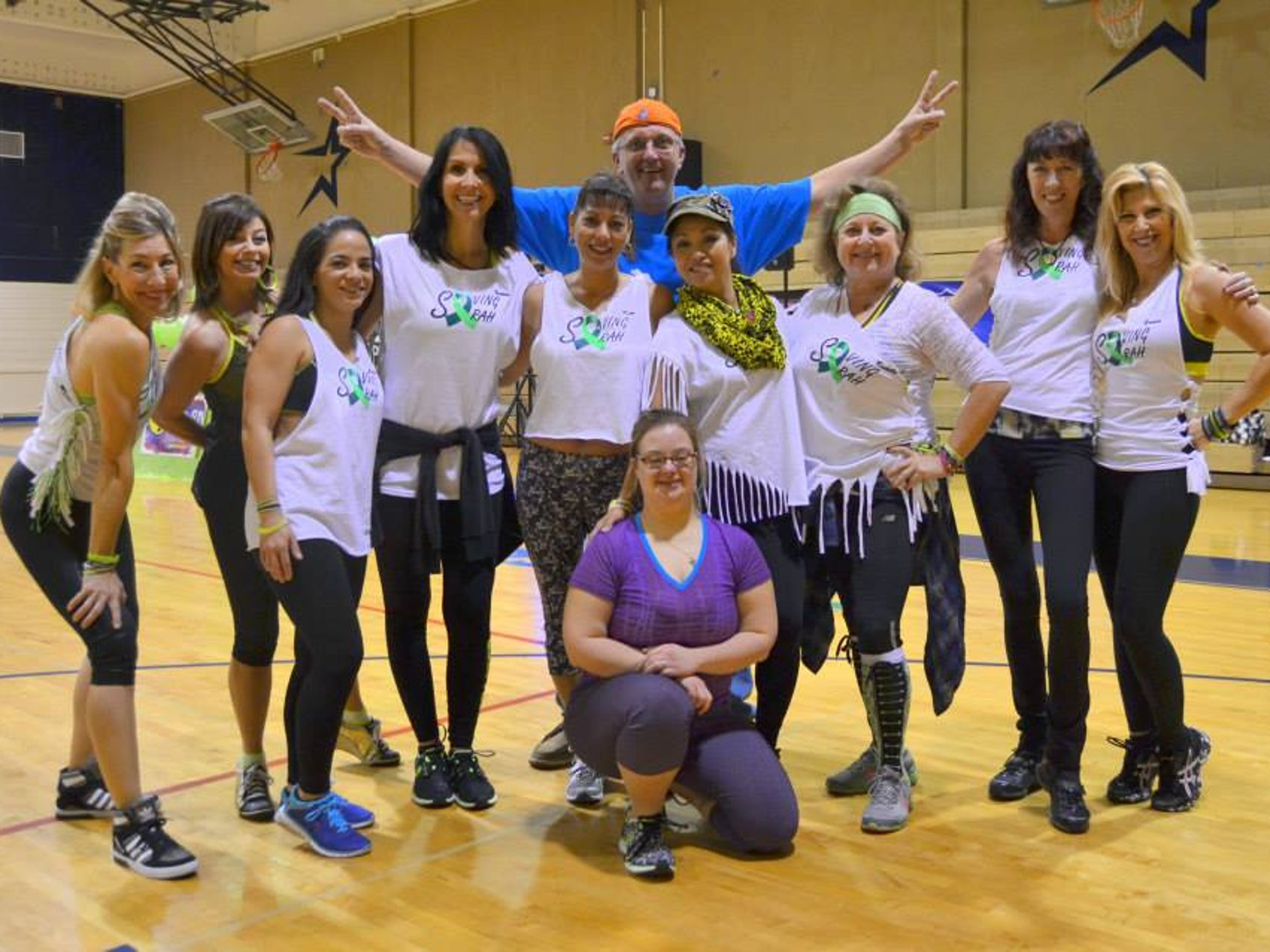 Family, friends and strangers participated in a recent Zumba event to raise money for Sarah Chardavoyne.