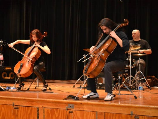 Young Audiences Assembly Artist Group Cello Fury performing