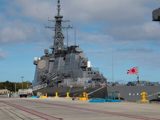 One of the recently arrived Japanese warships.
