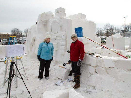The 11th annual Souper Snow Sculpture Spectacular is