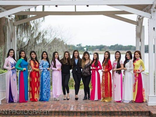 Contestants for Miss Vietnam Florida 2016