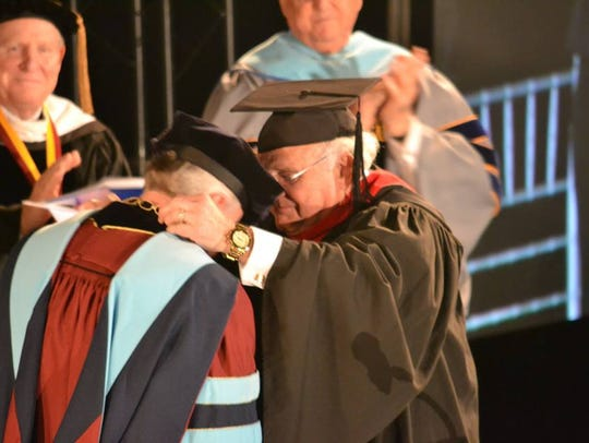 Mike Williams was officially inaugurated as Faulkner