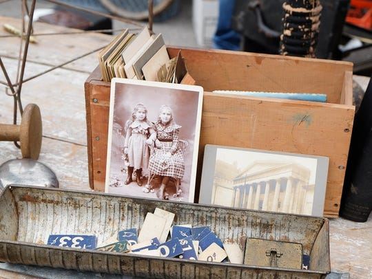 Antique photos and ephemera at the Nashville Flea Market.