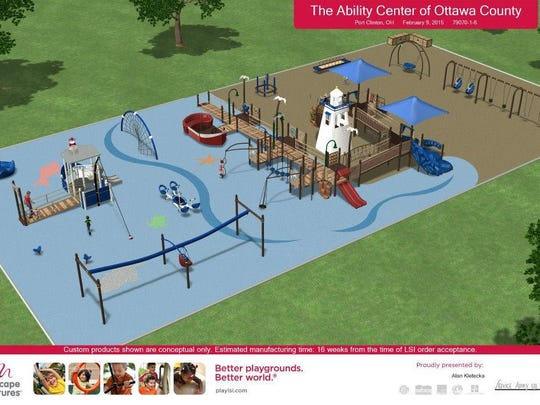 Port Clinton's new all-inclusive playground called Flagship Collaborative Playplace will be built at Lakeview Park in June.