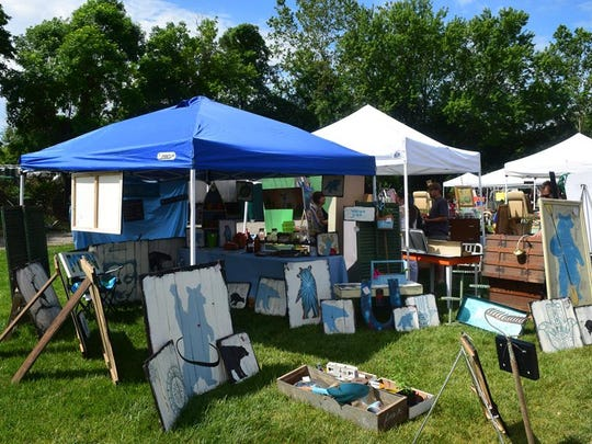 Scenes from last summer's Flea for Y'all at the unfinished Salvage Station.