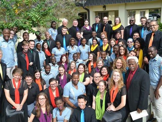 Dr. Fenton's choir, the Festival Singers of Florida,
