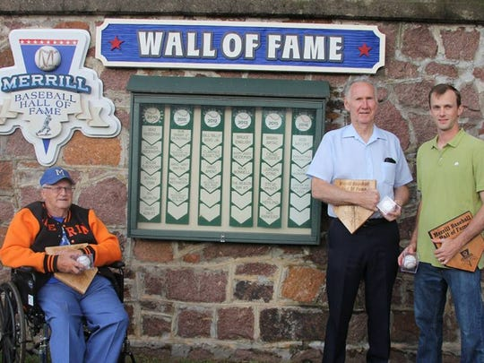 Stan Rothmeyer, Bob Natzke and Nick Grunenwald were all inducted into the Merrill Baseball Hall of Fame.