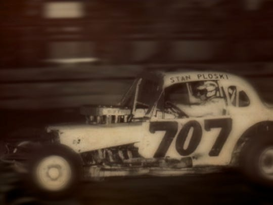 "Stan Ploski Jr. wheels the Paul Deasey Sr. #707 at Flemington Speedway in 1971. This car will be in the Flemington Speedway Historical Society display at the Hunterdon 4-H Fair all week, and ""Stan the Man"" will greet fans on Sunday."