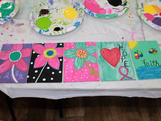 Examples of canvasses that have been created for the Tapestry of Survivorship Art Mural.