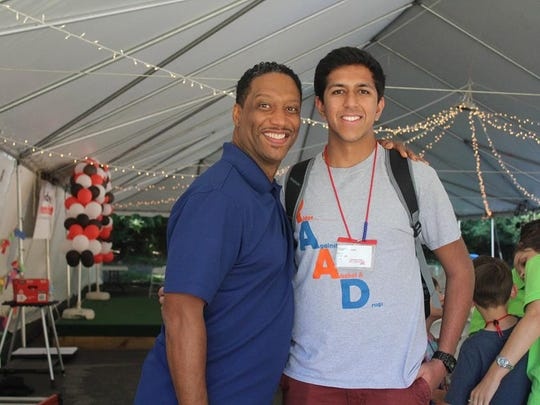 Hersh Gupta with speaker Marlon Smith