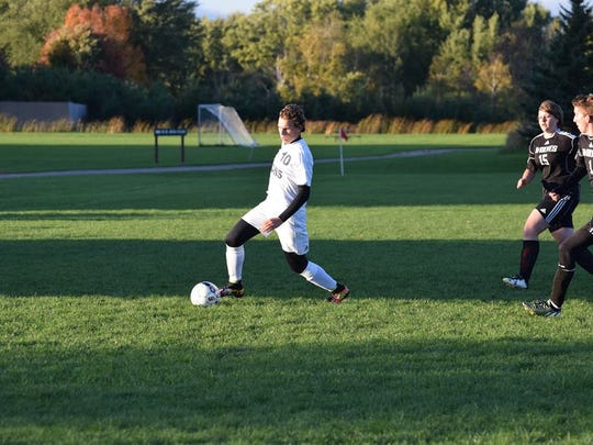 Ryan Dieringer missed all of the 2015 boys soccer season for the Columbus Catholic Dons. He has come back strong from cancer and has been one of the teams most consistent scorers.
