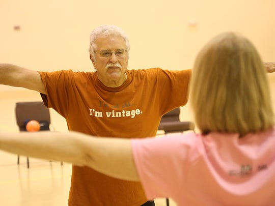 Mike Scott participates in a SilverSneakers fitness class, which he credits with giving him the strength and endurance to bounce back quickly following a stroke.