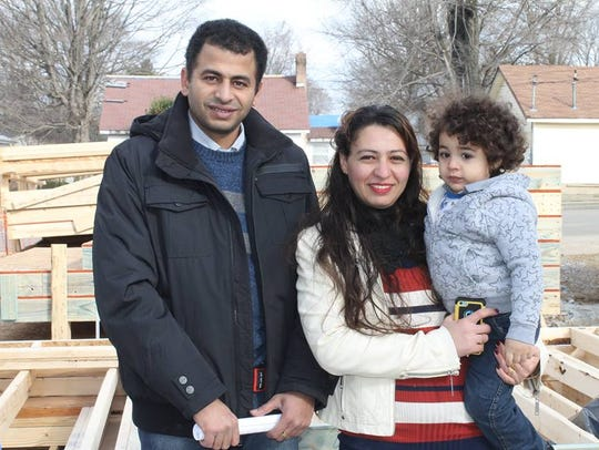 Andrew and Engy Benyamin with their youngest child