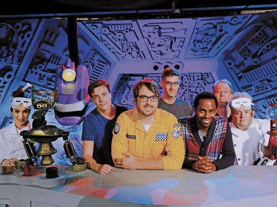 The cast of Mystery Science Theater 3000, which debut 14 new episodes on Netflix on April 14.