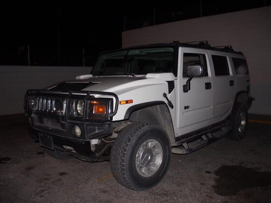 A Hummer was allegedly used by Mexicles gang members to distribute firearms and drugs.