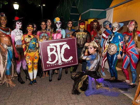 A contributed photo from Beyond the Canvas body art competition in La Gloria.