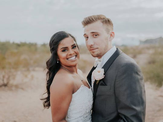 Laura Scheel and Matt Grodsky married Dec. 30, 2016.