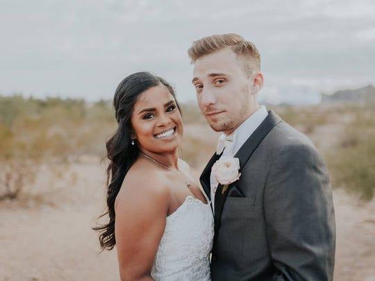 Laura Scheel and Matt Grodsky married Dec. 30, 2016.