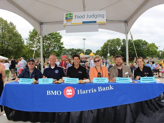 A panel of judges made up of community VIPs will be on hand to evaluate the foods at Taste of Fond du Lac on Aug. 20. Pictured are, from left: Peter O'Leary, Bill Lamb, Kevin Wondra, Amber Kilawee, Brian Kolstad and Jourdan Jacobs.