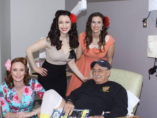 Jennifer Marshall, Gina Elise and Shannon Corbeil pose