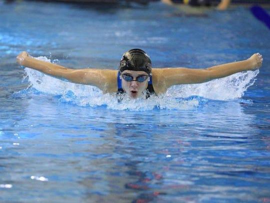 Benton's Ellie Kairschner swims in a 2016 meet.