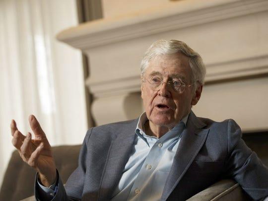 Conservative industrialist Charles Koch