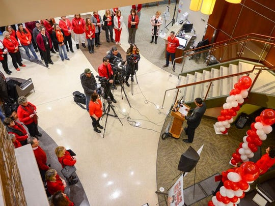 UHS celebrated 'Wear Red Day' on Feb. 2.
