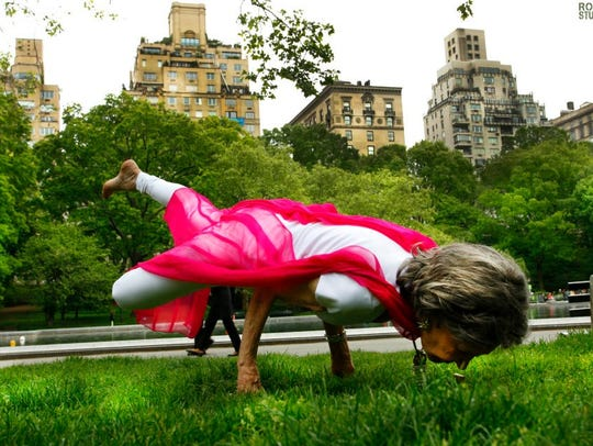 Tao Porchon-Lynch in Central Park recently.