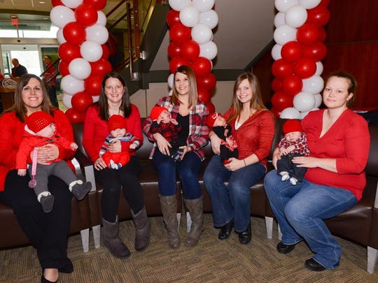 Several moms also attended the ribbon cutting at UHS