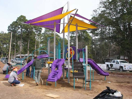 Residents of Pensacola's Camshire Meadows has been raising funds and support to build a playground for kids in their community. On Jan. 6, 2018, Camshire Meadows residents traveled to Tifton, Georgia, to help build a new playground at an elementary school.