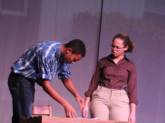 Logan Hargroves, left, as Percy and Maya Snead as Zora