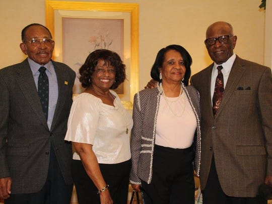 Joe and Bernice Idlette Jr., left, with Jackeye and