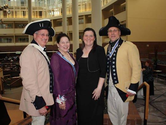 (Left to right) Warren Fristensky, SAR;Karen Stroever, NJDAR State Regent (2016-2019); andChristine (Christy) Viszoki, OS Teacher — 2018.