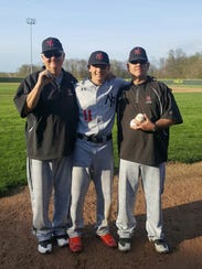 Lane Flamm fired his first high school no-hitter on