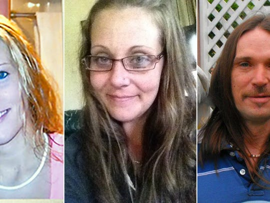 THE VICTIMS: Heather Aldrich, 25, her sister, Carrie Nelson, 31, and Nelson's boyfriend, Jody Hutchinson. 43.