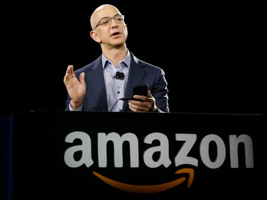 File photo taken in 2014 shows Amazon founder and CEO