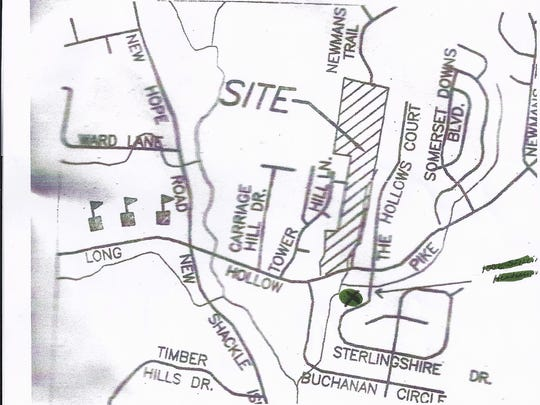 The request is by Michigan-based Orco Investments Inc. to rezone 58 acres off Long Hollow Pike from R-1A to low-density residential. That would allow for 111 new homes in the proposed Buchanan Estates.