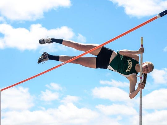 Vestal graduate Kari Stromhaug is among the top Division III pole vaulters in the country.