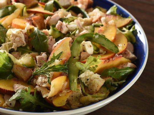 Chicken & Nectarine Panzanella from HelloFresh.