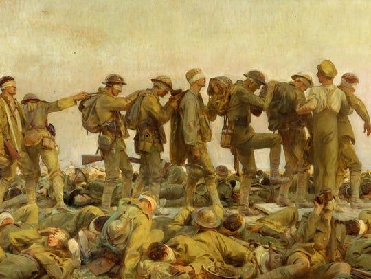 John Singer Sargent's  (1856–1925)  'Gassed, a 1919