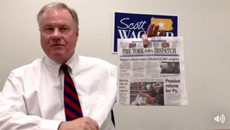Sen. Scott Wagner, R-Spring Garden Township, posted a video Tuesday thanking HBO's John Oliver for putting his picture and name on national television.