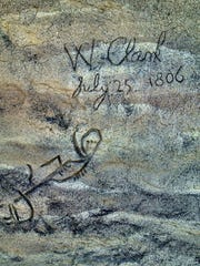 A reproduction of William Clark's signature at Pompeys Pillar east of Billings is available for viewing any season (as is the real thing).