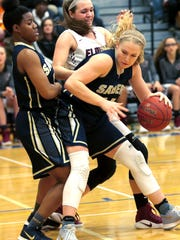 Susquehanna Valley's Alexis Drake (14) tries to move