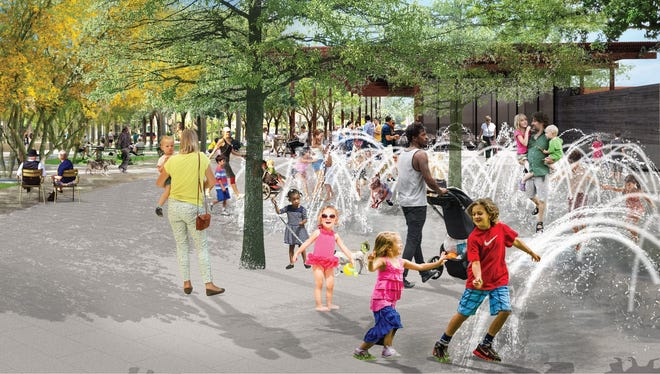 A rendering shows updates to Margaret T. Hance Park in downtown Phoenix.
