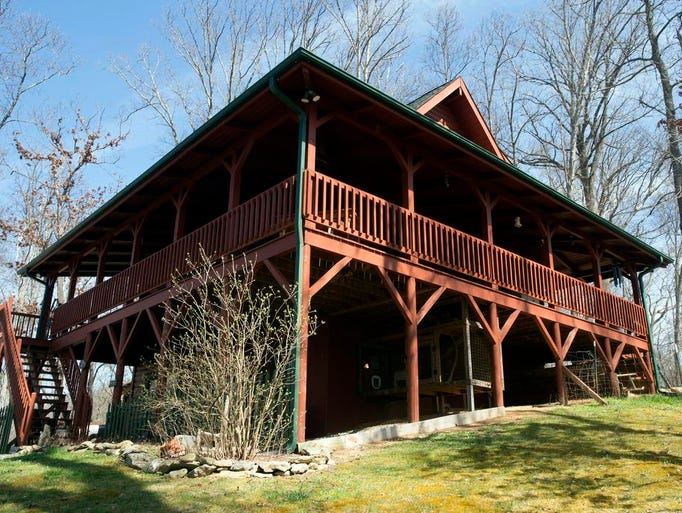 The front porch of the Mars Hill cabin of Robin and