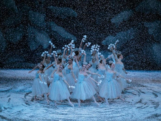 A scene from the New York City Ballet production of