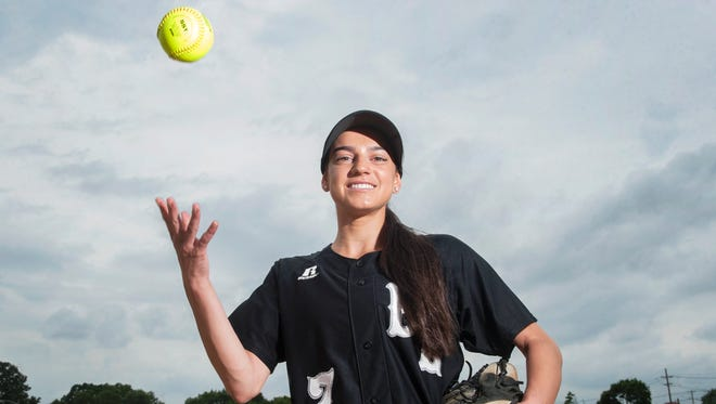 Bishop Eustace senior Izzy Kelly is the Courier Post's softball Pitcher of the Year for 2018.
